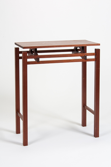 foyer table mahogany